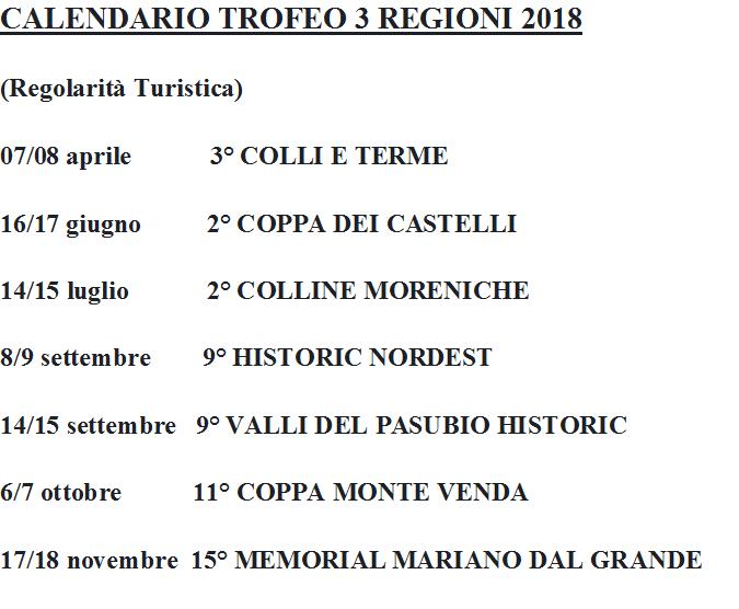 programma gare 2018